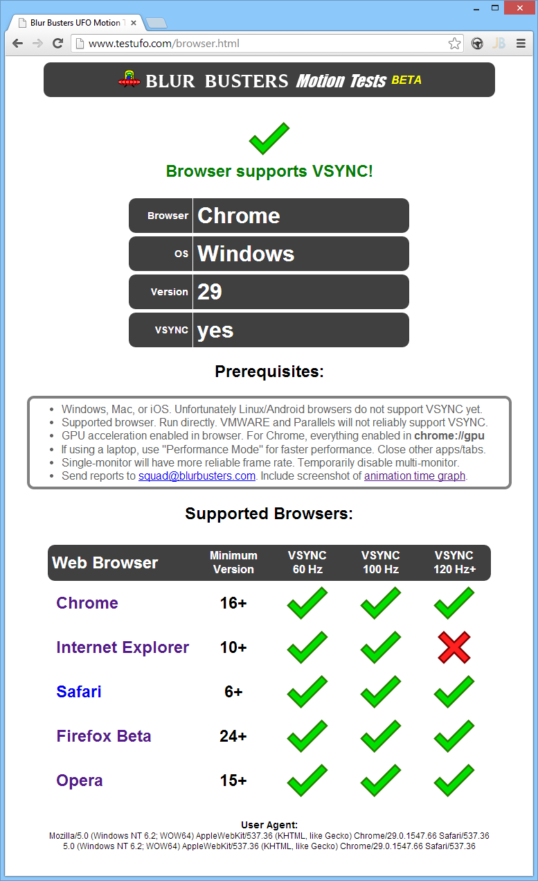Buster browser tests