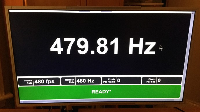 Blur Buster's 480 Hz Monitor Prototype