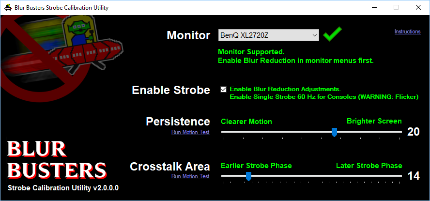 strobe utility for calibration of benq zowie blur reduction blur