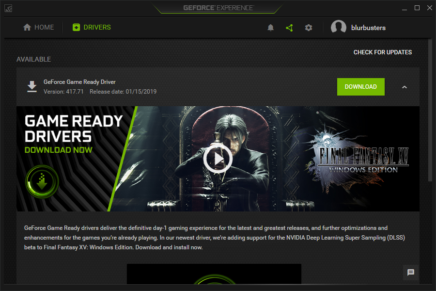 NVIDIA GeForce Driver 417 71 Today: Any FreeSync Monitor